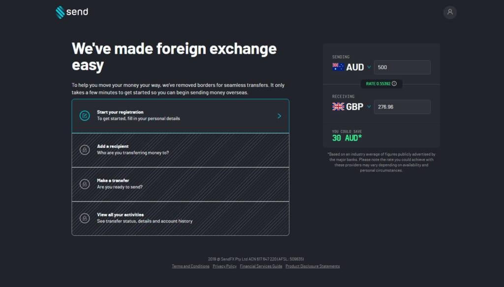 Sendfx foreign exchange